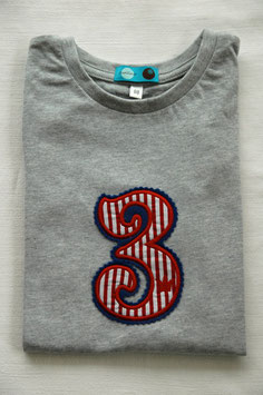 Geburtstags-Shirt 3 hellgrau