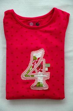 Geburtstags- Shirt 4 pink