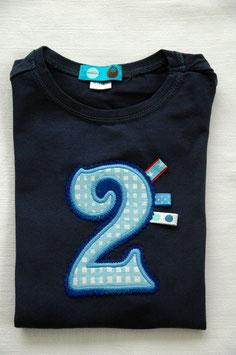 Geburtstags- Shirt 2 dunkelblau