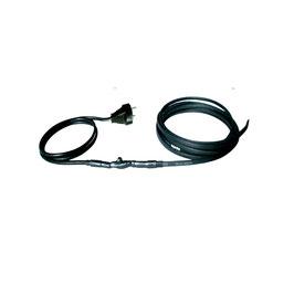 Rohrbegleitheizung FPC :   für Wasserleitungen : 2 m Anschlusskabel mit Schukostecker, Kabelthermostat + Heizkabel der gewünschten Länge