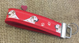 "Schlüsselanhänger ""Labrador rot auf rotem Filz"""