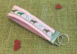 "Schlüsselanhänger ""Dalapferd auf rosa Filz"""