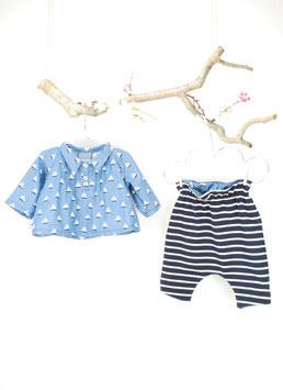 Hemd Baby | Segelschiff blau