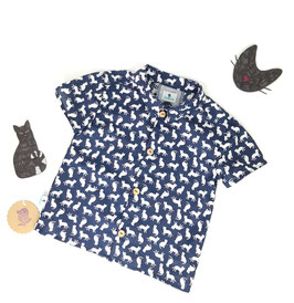 Hemd Kids | Cat blue
