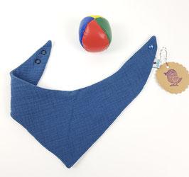 Spucklätzchen Babies | Doppel Mull Indigo blau