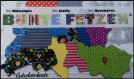 Geschenkgutschein-Karte von Bunte Fetzen®