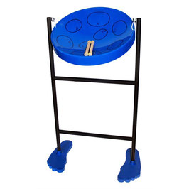 Steel Pan and Stand with mallets. Adjustable.