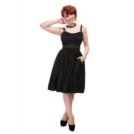 Collectif Jade Plain Swing Dress schwarz