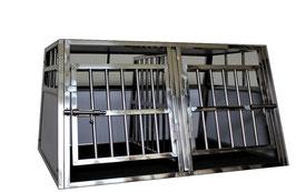 Cage Transport Chien DOUBLE + Séparation / CAG-002
