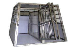 Cage Transport Chien DOUBLE + Séparation / CAG-001