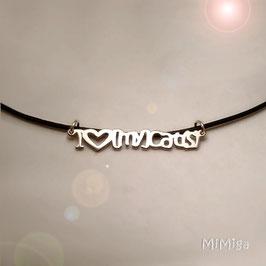 Collar 'I love [my] cat(s)'