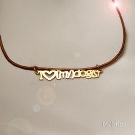 Collar 'I love [my] dog(s)'