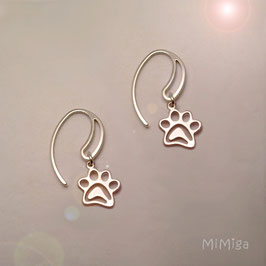 Earrings design PAW PRINTS