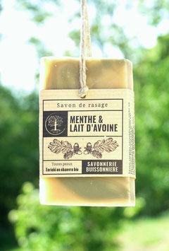 Savon de Rasage Menthe & Lait d'avoine