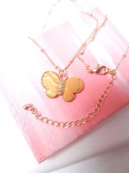 """Halskette """"Golden Schmetterling"""",  Veränderung """"inside and outside"""", Größe etwa 2,7 cm"""