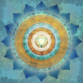 Wandbild Vishuddha -  5. Chakra