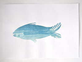 silk screen - happy fish