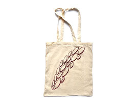 Hand-silk-screened tote bags