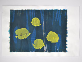 silk screen - yellow fish
