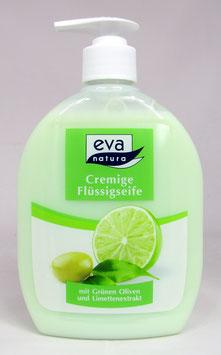 Cremige Flüssigseife mit wertvollen Extrakten aus grünen Oliven und Limetten - 500ML