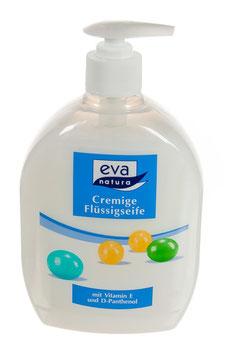 Cremige Flüssigseinfe mit Vitamin E und D Panthenol