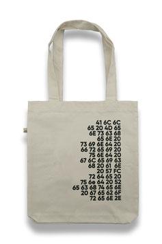 """Tote Bag """"Artikel 1"""" (Hex)"""