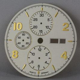Zifferblatt Ø 30.80 und 34.80  für ETA 7750 Weiß/Silber/ dial for ETA 7750