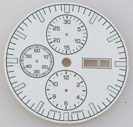Zifferblatt Ø 34.80 für ETA 7750 Weiß / dial for ETA 7750