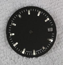 Zifferblatt Ø 27.00 mm für Eta 2824-2 Schwarz / Dial ETA 2824-2 Ziffernblatt Cadran Esfera