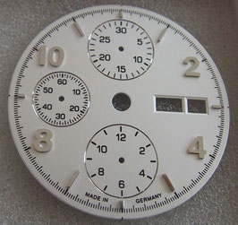 Zifferblatt Ø 30.80 für ETA 7750 30,8mm / white/silver dial for ETA 7750
