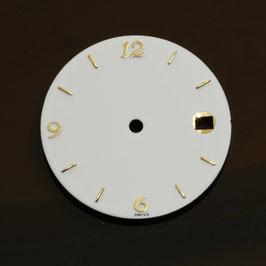 Zifferblatt Ø 28.55 mm für Eta 2824-2 weiß / Dial ETA 2824-2 Ziffernblatt Cadran Esfera NOS