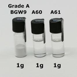 Leuchtpulver KIT: Swiss SuperLuminova BGW9 Grade A + Klarlack A60 + Verdünner A61