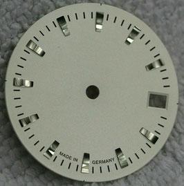 Zifferblatt Ø 27.00 mm für Eta 2824-2 helles Silbergrau / Dial ETA 2824-2 Ziffernblatt Cadran Esfera