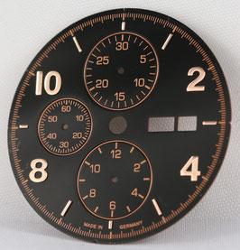 Zifferblatt Ø 30.80 und 34.80 für ETA 7750 Schwarz / black dial for ETA 7750