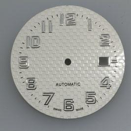 Zifferblatt Ø 32.90 mm für Eta 2824-2 Silber / Dial ETA 2824-2 Ziffernblatt Cadran Esfera NOS