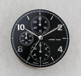 Set: 34.8mm Zifferblatt mit Zeigern für ETA 7750 Schwarz - Silber / set: dial 34.8 mm with hands for ETA 7750