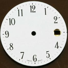 Zifferblatt Ø 29.00 mm für Eta 2824-2 Weiß / Dial ETA 2824-2 Ziffernblatt Cadran Esfera NOS