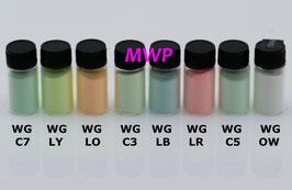 Leuchtpigment KIT:  Watch Grade + Klarlack A60 + Verdünner A61, Old White, C1, C3, C5, hell-Gelb, hell-Orange, hell-Blau, hell-Rot