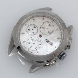 42mm Set für ETA Valjoux 7750: Gehäuse + Perlmutt Zifferblatt + Zeiger / 42mm set for ETA Valjoux 7750: case + mother of pearl dial + hands