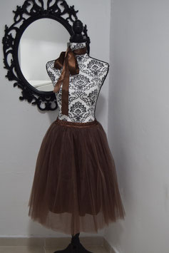 Midi Tulle Brown