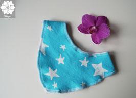 Tuch Nio - Hellblau Sterne / gestreift blau