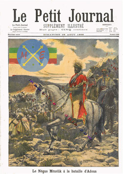 L'empereur Ménélik II, vainqueur d'Adwa le 1 Mars 1896