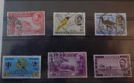 """Série de Timbres éthiopiens originaux """"Divers 1"""""""