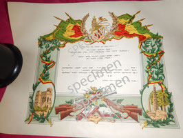 Diplôme original de Patriote Ethiopien