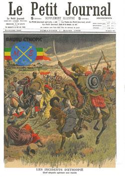 Scène de bataille en Ethiopie
