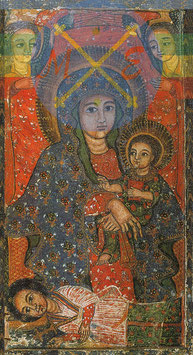 Vierge et commanditaire