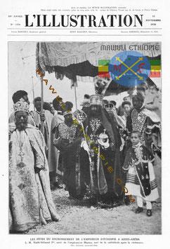 Le couronnement de Haile Selassie I, 02 novembre 1930