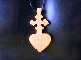 Croix Ethiopienne en Bois Coeur