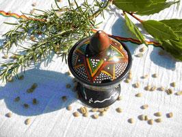 Pot à sucre en terre cuite d'Ethiopie