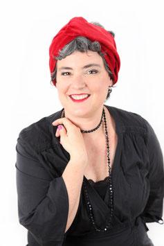 Turban Caroline rouge rubis